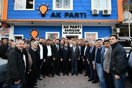 Sarıçam Belediye Başkanı Uludağ'dan, AK Parti İlçeye ziyaret
